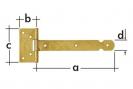 ZBL - zawias bramkowy, lekki
